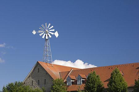 Windrad wohnhaus